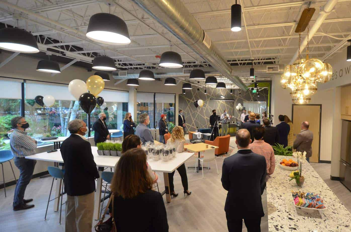 Hone Coworks Ribbon Cutting Social Distancing